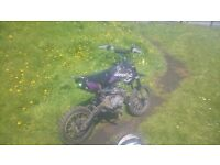 110 stomp pitbike,manual all up gears. £100.