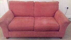 M&S Terracotta 2 seater sofa