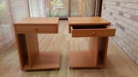 2 modern bedside tables in excellent condition