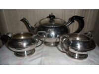 3 PIECE BEST SILVER PLATE TEA SET