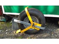 Heavy Duty Steel Wheel Clamp. Adjustable Safety Lock Car Suv Trailer