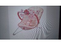 Fisher-Price Butterfly Pink Baby Bouncer 0-10months