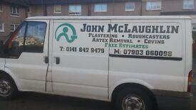 john the plasterer roughcaster for all plastering, roughcasting needs good clean tidy tradesmen