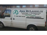 john the plasterer for all your plastering needs good clean tidy tradesmen all work guaranteed