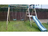 Plum Swing and Slide set
