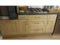 Maple Shaker Kitchen cupboards, drawers and doors