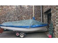 enterprise dinghy with trailer
