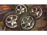 "Set of 4 TSW Venom's 15"" to fit Ford Escort."