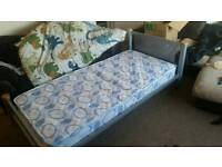 Single bed metal frame mattress clean