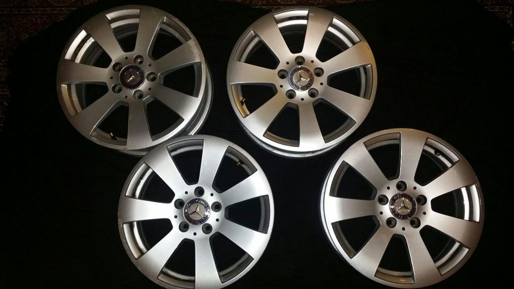 Mercedes benz 16inch 7 spoke alloy wheels no tyres 140 for Mag wheels for mercedes benz