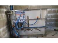 Van mounted window cleaning water tank: window cleaning