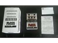 Electro harmonix black finger compressor pedal