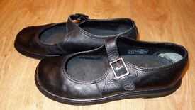 Black Dr Martens Kara Mary Jane style shoes, size 8