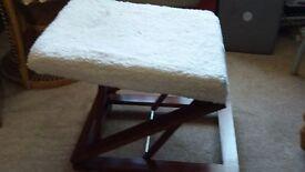 Foot stool, height adjustable