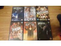 10 WWE DVD's & 1 Box Set