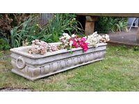 concrete garden plant trough/pots