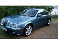 "Jaguar S-Type 3.0 – Rare Manual, Fantastic Factory 18"" Alloys, Mistral blue with Leather"