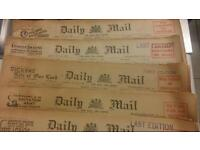 1934 Daily Mail newapapers Good Condition