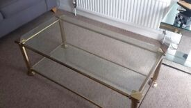 Glass Coffee Table and Two Occasional Tables