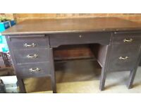 1950's Vintage Abbess Oak Desk