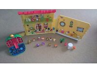 Moshi monsters house and various pieces