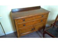 Vintage set of drawers & Vintage wardrobe