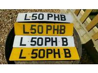 Personalised number plate L50 PHB