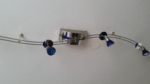 Halogen Lampe Leuchte System Blaues Glas Wohnzimmer Schlafzimmer