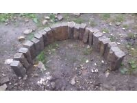 Outside garden arch made from real hand carved stone