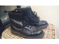 Black Doc Martens size 9 UK