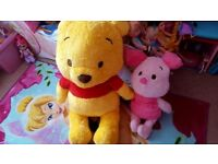 Winnie the pooh and pigglet soft toy from Disney Store
