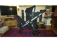 Baby Jogger City Select Double Pushchair in Plum