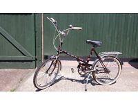 Dawes bike, 3 gears, new tyres and inner tubes, bell rack, good working order