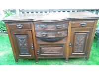 Oak sideboard, beautifuly carved
