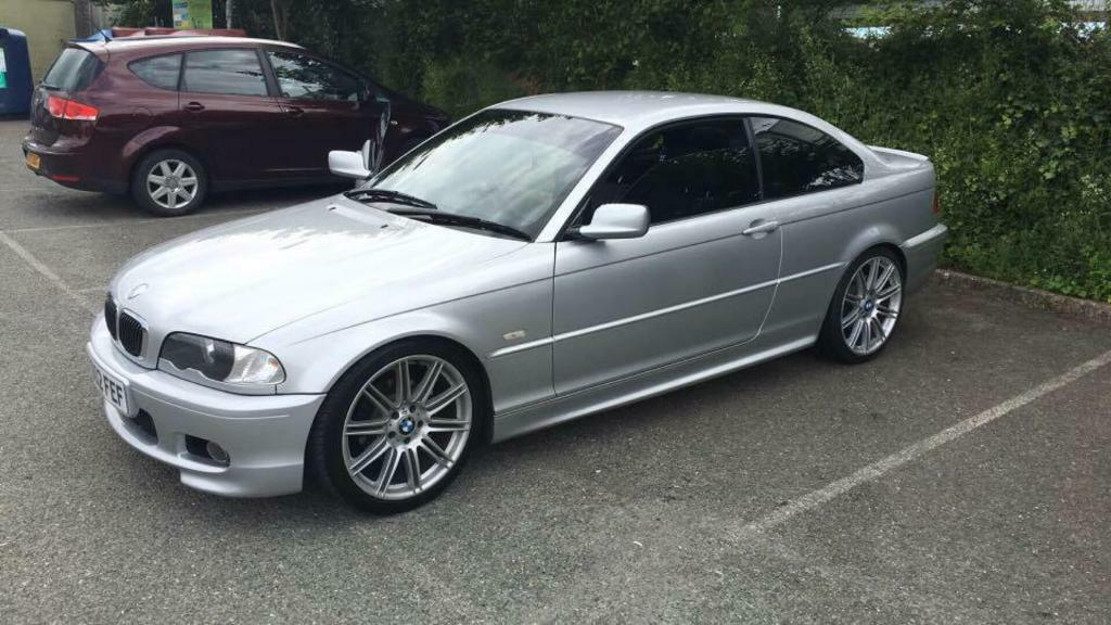 bmw 325i 2001 silver 19 msport alloys tinted windows. Black Bedroom Furniture Sets. Home Design Ideas