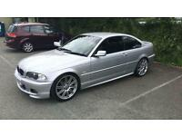 """BMW 325i, 2001, silver, 19"""" msport alloys, tinted windows, lowered, 147,000 miles, Sold as seen"""