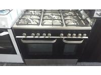 New Graded KENWOOD Dual Fuel Range Cooker - Black