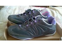 Brand new Pineapple Studios grey/lilac dance & fitness trainers size 6/39 to 7/40