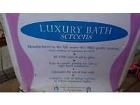Luxury bath screen