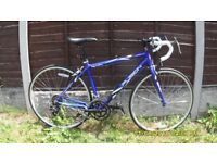 APOLLO FUSION 14 SPEED RACING LIGHTWEIGHT S/M ALLOY FRAME EXC COND HARDLY BEEN USED