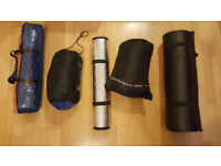 5 Piece Set for Camping - 2 Person Waterproof Tent, 2 Sleeping Bags & 2 Mats
