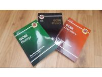 CGP GCSE biology, physics and chemsitry textbooks