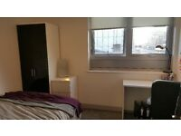 Modern city centre student flat share with a double bedroom