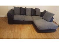 Corner sofa black/grey