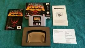 N64 DOOM 64 BOXED AND COMPLETE!