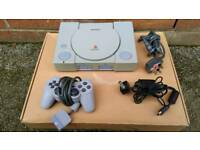 Play station 1 with controler power charger and tv conection wire!can deliver or post!