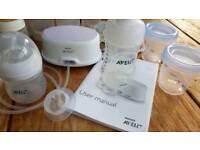 Nuk bottles anf Advent Breast Pump