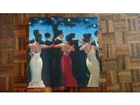 Selection of Vettriano Prints and Canvas pictures in frames