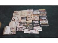 stamp collection mostly NZ and British. includes special subjects and first day covers