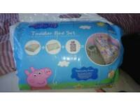 Toddler bed set peppa pig
